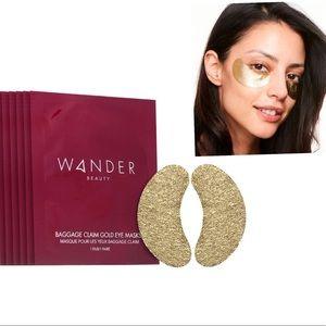 NIB WANDER BEAUTY Baggage Claim Gold Eye Masks / 6 PAIRS
